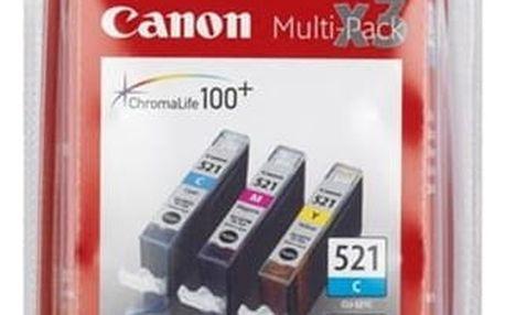 Inkoustová náplň Canon CLI-521 C/M/Y - originální (2934B007) modrá/žlutá/růžová