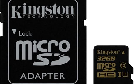 Paměťová karta Kingston 32GB UHS-I U3 (90R/45W) + SD adapter (SDCG/32GB) černá
