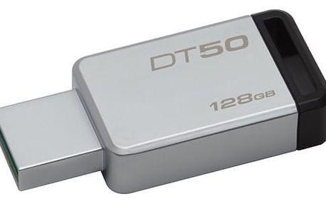 Kingston DataTraveler 50 128GB (DT50/128GB) černý/kovový