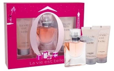 Lancome La Vie Est Belle dárková kazeta pro ženy parfémovaná voda 30 ml + sprchový gel 50 ml + tělové mléko 50 ml
