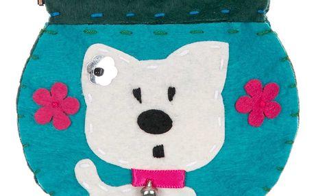 Fashion Icon Peněženka flísová Dog ruční práce pejsek