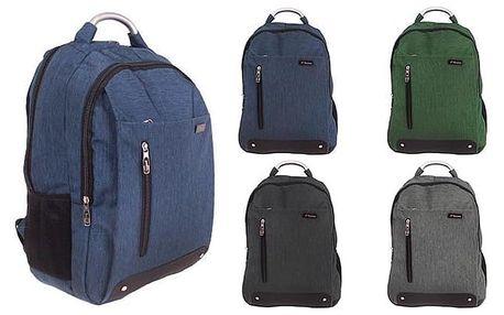 Praktický batoh s kapsami do školy, do práce i na cesty v různých barvách