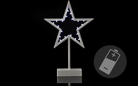 Nexos 33203 Vánoční dekorace - hvězda - 38 cm, 20 LED