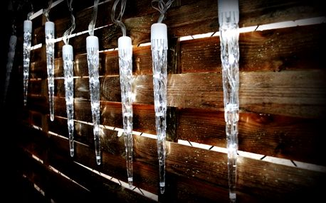 Nexos 1135 Vánoční osvětlení - rampouchy - studená bílá, 8 světelných funkcí