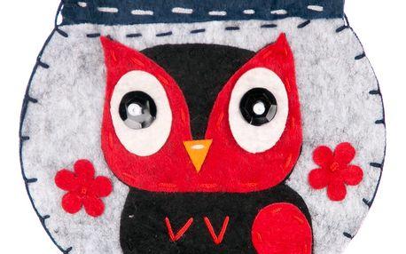 Fashion Icon Peněženka flísová Owl ruční práce šedá