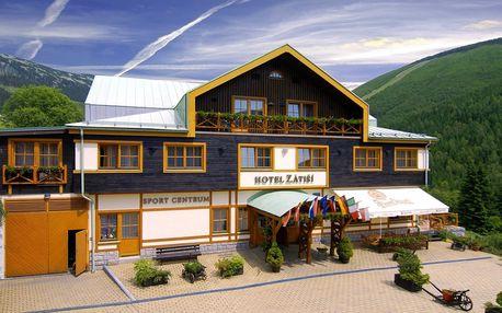 Horský hotel ve Špindlu s polopenzí i wellness