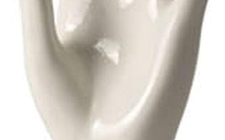 Porcelánová ruka na prstýnky - bílá