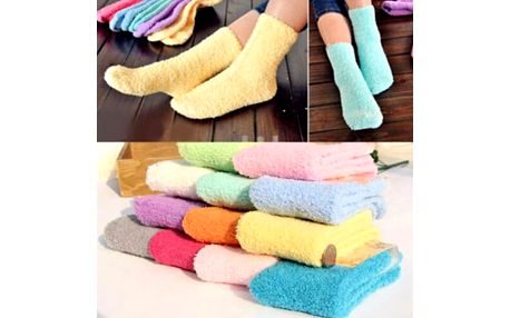 Dámské chlupaté ponožky Fluffy