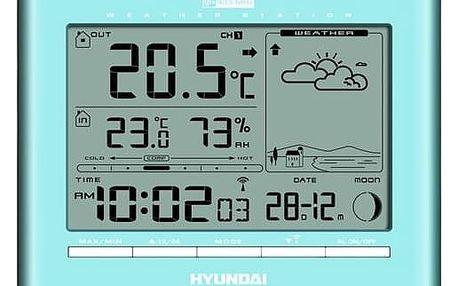 Meteorologická stanice Hyundai WSC 2180 SK modrá + Doprava zdarma