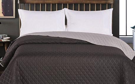 DecoKing Přehoz na postel Axel černá/šedá, 220 x 240 cm