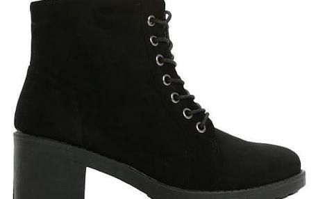 Dámské černé kotníkové boty Lancey 6172