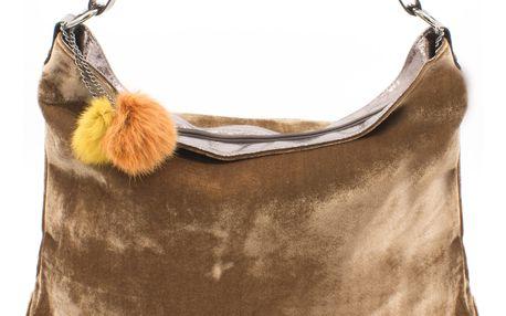 Dámská kabelka Co & Coo semišová Maxi Suede s bambulkou