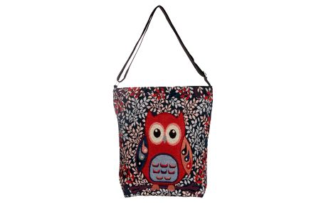 Fashion Icon Kabelka Červená sova shopper černá