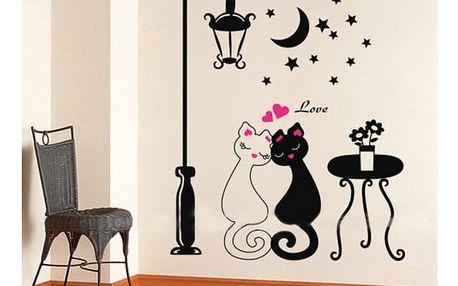 Samolepka na zeď Kočičí láska!