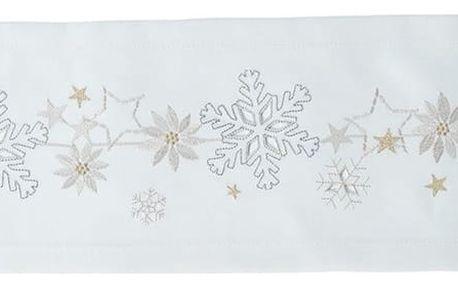 Sander Ubrus Christmas flake krémová 50 x 150 cm