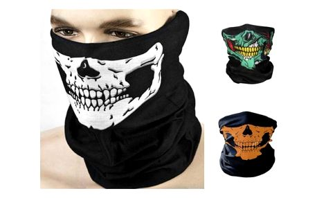 Stylový černý šátek Skull