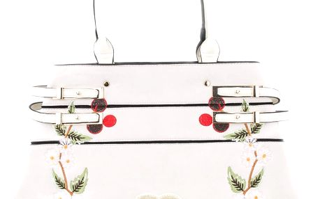 Co & Coo Fashion Dámská kabelka s výšivkami srdíček a kytek
