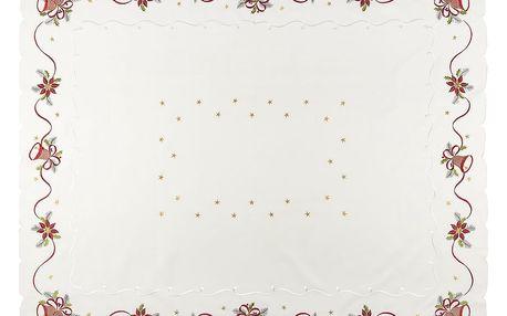 Forbyt Vánoční ubrus Zvonky, 120 x 160 cm, 120 x 160 cm