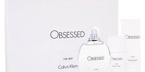 Calvin Klein Obsessed For Men EDT dárková sada M - EDT 125 ml + sprchový gel 100 ml + deostick 75 ml