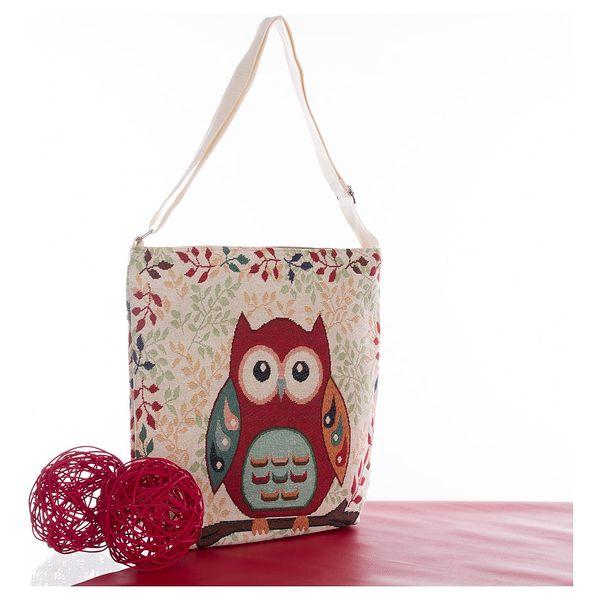 Fashion Icon Kabelka Velká sova shopper červená