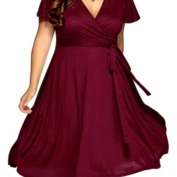 Společenské šaty v nadměrných velikostech - 4 barvy