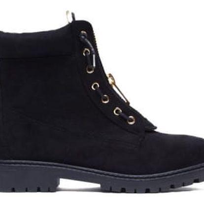 Dámské černé kotníkové boty Bolivie 2051