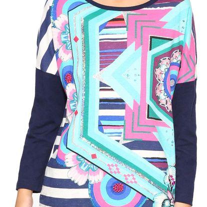 Desigual barevné dívčí tričko Colorado