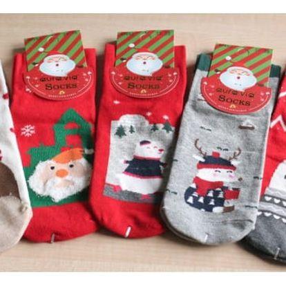 Dámské vánoční ponožky Merry Christmas