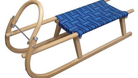 Sáně Acra Dřevěné 110 cm modré + Doprava zdarma