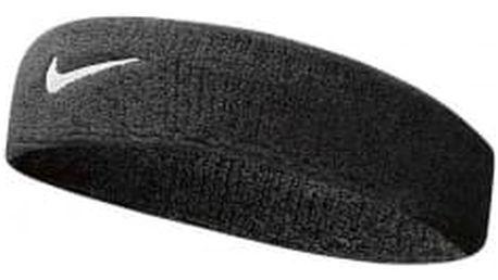 Černá čelenka Nike SWOOSH HEADBAND | NNN07--010 | Černá | NS