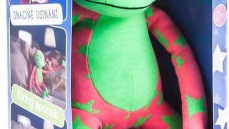 TEDDIES Opice svítící ve tmě plyš, růžová/zelená