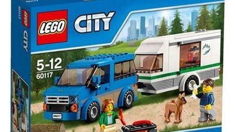 Stavebnice LEGO® City Great Vehicles 60117 Dodávka a karavan + Doprava zdarma