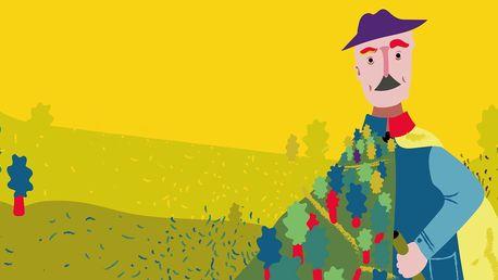 Vstupenka na představení Muž, který sázel stromy