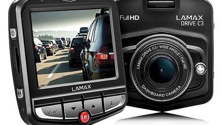 Autokamera Lamax Drive C3 černá + Doprava zdarma