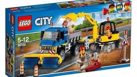 Stavebnice LEGO® CITY GREAT VEHICLES 60152 Zametací vůz a bagr + Doprava zdarma