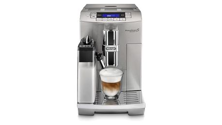 Espresso DeLonghi PrimaDonna S De Luxe ECAM28.465.M stříbrné + dárek 2x Káva zrnková DeLonghi Kimbo Arabica 250g v hodnotě 199 Kč + DOPRAVA ZDARMA