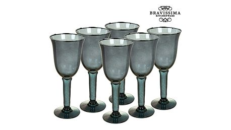 Sklenice z recyklovaného skla 6 pcs 500 ml Šedý - Crystal Colours Kitchen Kolekce by Bravissima Kitchen