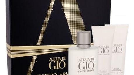 Giorgio Armani Acqua di Gio Pour Homme dárková kazeta pro muže toaletní voda 100 ml + balzám po holení 75 ml + sprchový gel 75 ml
