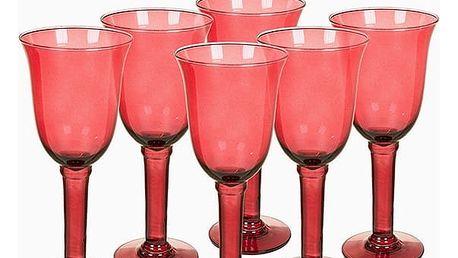 Sklenice z recyklovaného skla 6 pcs 500 ml Burgundská - Crystal Colours Kitchen Kolekce by Bravissima Kitchen