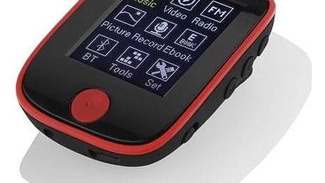 MP3 přehrávač GoGEN MXM 421 GB4 BT černý/červený + Doprava zdarma