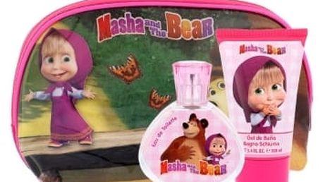 Disney Masha and The Bear dárková kazeta toaletní voda 50 ml + sprchový gel 100 ml + kosmetická taška