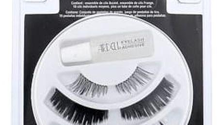 Ardell Trio 3-in-1 umělé řasy dárková sada Black W - umělé řasy Accent Lashes 1 pár + umělé řasy Strip Lashes 1 pár + umělé řasy Med Individual Lashes 10 ks + lepidlo na řasy 1 ml