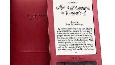 Čtečka e-knih Pocket Book 626 Touch Lux 3 (PB626(2)-R-WW) červená + DOPRAVA ZDARMA