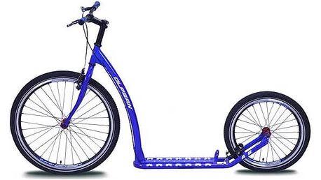 Koloběžka Olpran A6 modrá + Reflexní sada 2 SportTeam (pásek, přívěsek, samolepky) - zelené v hodnotě 58 Kč + Doprava zdarma