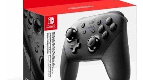 Gamepad Nintendo Switch Pro Controller (NSP140) černý + Doprava zdarma
