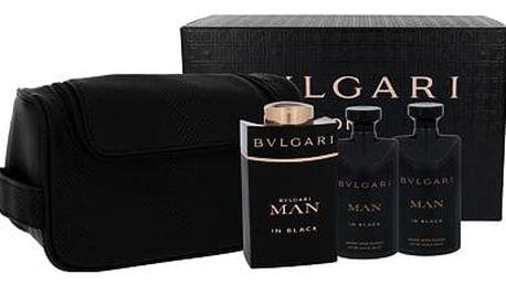 Bvlgari Man In Black EDP dárková sada M - EDP 100 ml + balzám po holení 75 ml + sprchový gel 75 ml + kosmetická taška