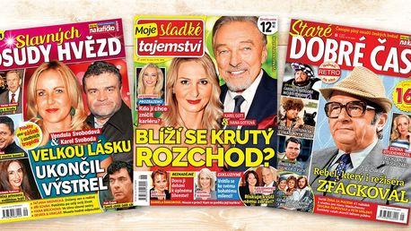 Předplatné tří časopisů