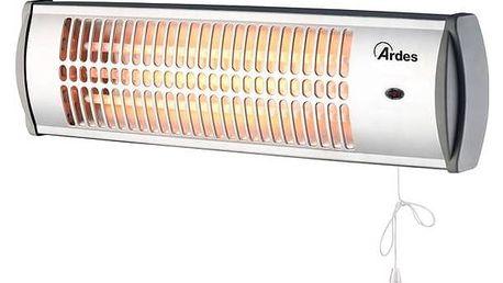 Zářič/ohřívač Ardes 437A stříbrný + Doprava zdarma