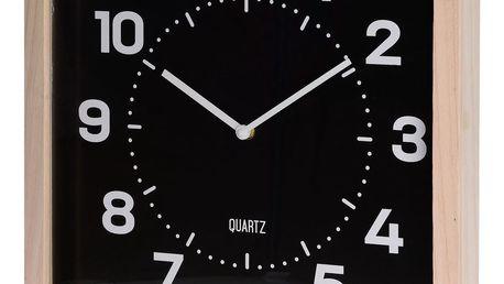 Nástěnné hodiny Square černá, 40 cm