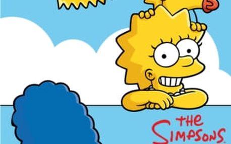 Jerry Fabrics Dětská osuška SIMPSONOVI V OBLACÍCH 70x140 cm